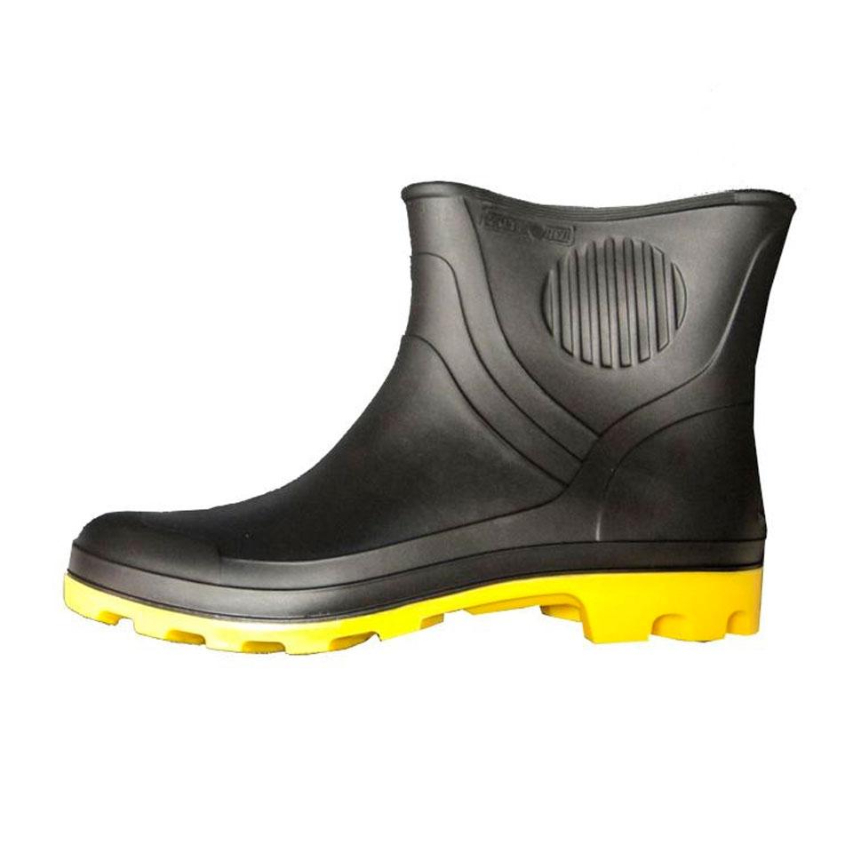 3ee9e573e3 Bota de PVC Cano Extra Curto – Preta com Solado Amarelo | A CIASeg EPI´s